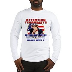 Uncle Sam Anti Terrorist Long Sleeve T-Shirt
