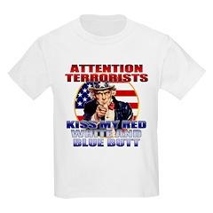 Uncle Sam Anti Terrorist Kids T-Shirt