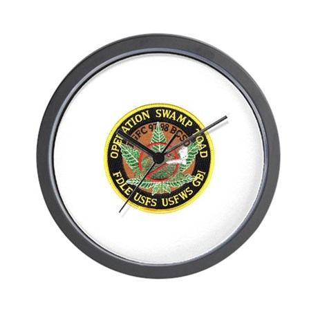 Operation Swamp Toad Wall Clock