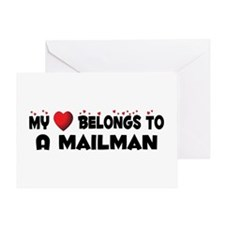 Belongs To A Mailman Greeting Card