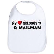 Belongs To A Mailman Bib