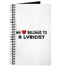 Belongs To A Lyricist Journal