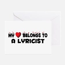 Belongs To A Lyricist Greeting Card