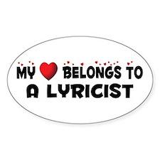 Belongs To A Lyricist Oval Decal
