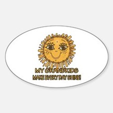 Love Grandparents Oval Decal