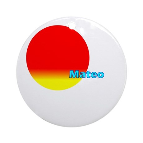 Mateo Ornament (Round)