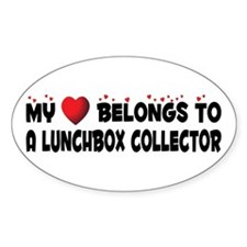 Belongs To A Lunchbox Collector Oval Decal