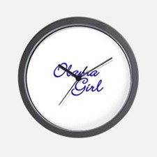 Obama Girl - Blue Wall Clock