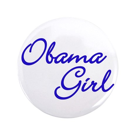 "Obama Girl - Blue 3.5"" Button"