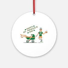 Happy St. Patrick's Day Ornament (Round)