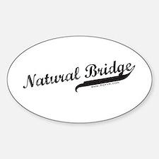 Natural Bridge Oval Decal