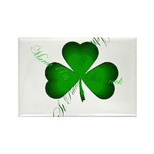 Irish Writers Shamrock Rectangle Magnet (10 pack)