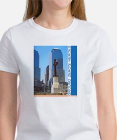 REMEMBER GROUND ZERO's HEROES women's tee NYC WTC