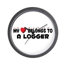 Belongs To A Logger Wall Clock
