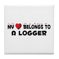 Belongs To A Logger Tile Coaster