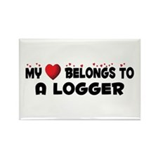 Belongs To A Logger Rectangle Magnet