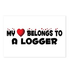 Belongs To A Logger Postcards (Package of 8)