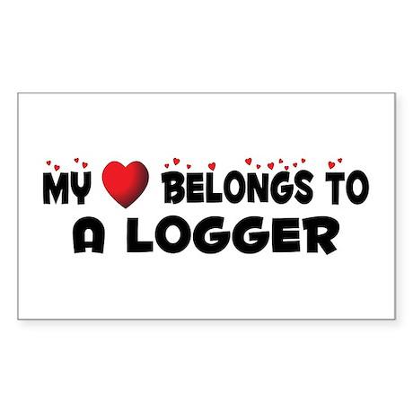 Belongs To A Logger Rectangle Sticker