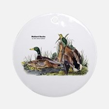 Audubon Mallard Ducks Ornament (Round)