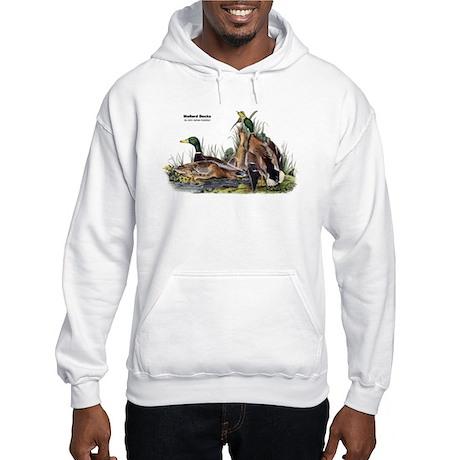 Audubon Mallard Ducks (Front) Hooded Sweatshirt