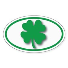 Shamrock Shadow Oval Oval Decal
