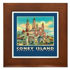 Coney Island Luna Park Framed Tile