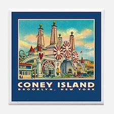 Coney Island Luna Park Tile Coaster