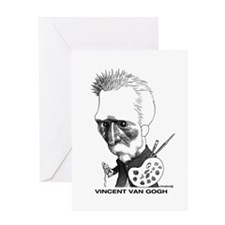 Funny Caricature artist Greeting Card