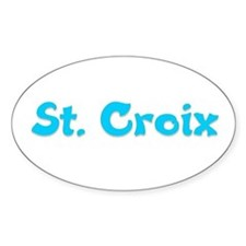 St. Croix Oval Decal