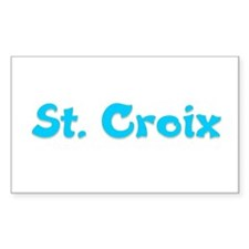 St. Croix Rectangle Decal