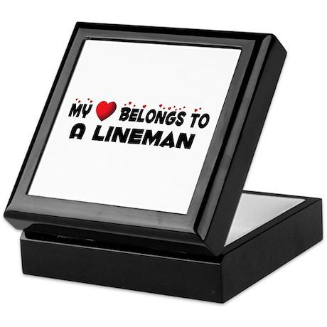 Belongs To A Lineman Keepsake Box