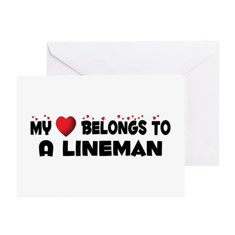 Belongs To A Lineman Greeting Cards (Pk of 10)