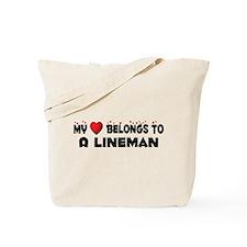 Belongs To A Lineman Tote Bag