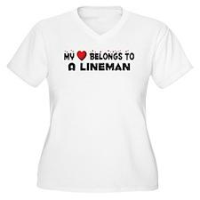Belongs To A Lineman T-Shirt