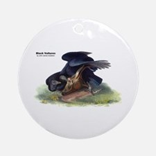 Audubon Black Vultures Bird Ornament (Round)