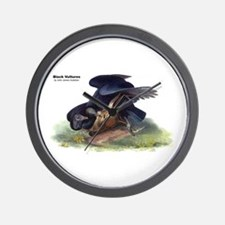 Audubon Black Vultures Bird Wall Clock