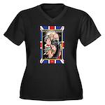 Rocketship Empires 1936 Women's Plus Size V-Neck D
