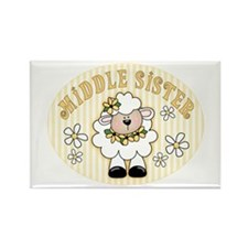 Daisy Lamb Middle Sister Rectangle Magnet
