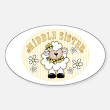 Daisy Lamb Middle Sister Oval Decal