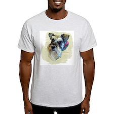 Billi the Schnauzer Ash Grey T-Shirt