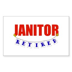 Retired Janitor Rectangle Decal