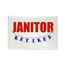 Retired Janitor Rectangle Magnet