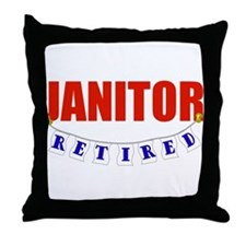 Retired Janitor Throw Pillow