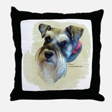 Billi the Schnauzer Throw Pillow