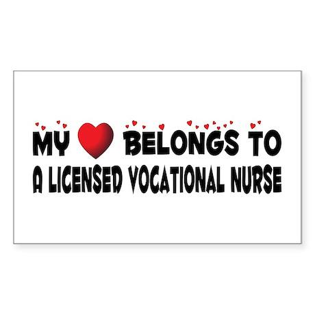 Belongs To A Licensed Vocational Nurse Sticker (Re