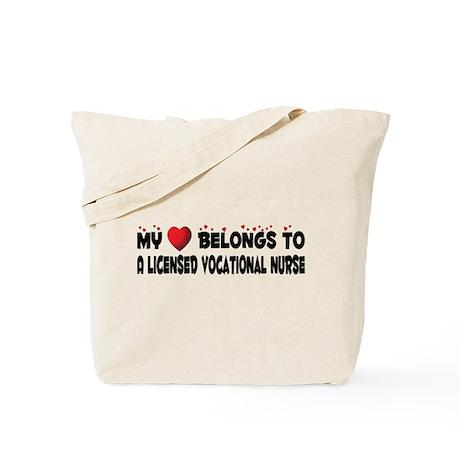 Belongs To A Licensed Vocational Nurse Tote Bag