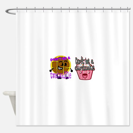 Cuntcake and twatwaffle humor Shower Curtain