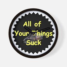 Sucky Wears Wall Clock