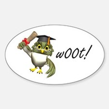 w00t! Graduation Oval Decal