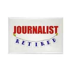 Retired Journalist Rectangle Magnet